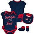 NFL Team Apparel Infant Girls' New England Patriots Trifecta Onesie Set
