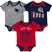 NFL Team Apparel Infant New England Patriots Tailgater 3-Piece Onesie Set