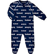 NFL Team Apparel Infant New England Patriots Zip-Up Navy Coverall