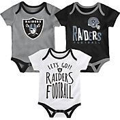 NFL Team Apparel Infant Oakland Raiders Tailgater 3-Piece Onesie Set