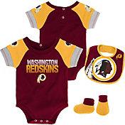NFL Team Apparel Infant Washington Redskins 50-Yard Onesie Set