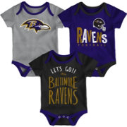 NFL Team Apparel Infant Baltimore Ravens Tailgater 3-Piece Onesie Set