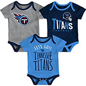 NFL Team Apparel Infant Tennessee Titans Tailgater 3-Piece Onesie Set