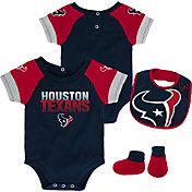 NFL Team Apparel Infant Houston Texans 50-Yard Onesie Set