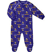 NFL Team Apparel Infant Minnesota Vikings Zip-Up Purple Coverall