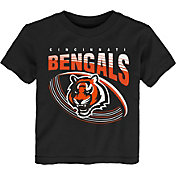 NFL Team Apparel Toddler Cincinnati Bengals Vortex Black T-Shirt