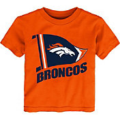 NFL Team Apparel Toddler Denver Broncos Flag Orange T-Shirt