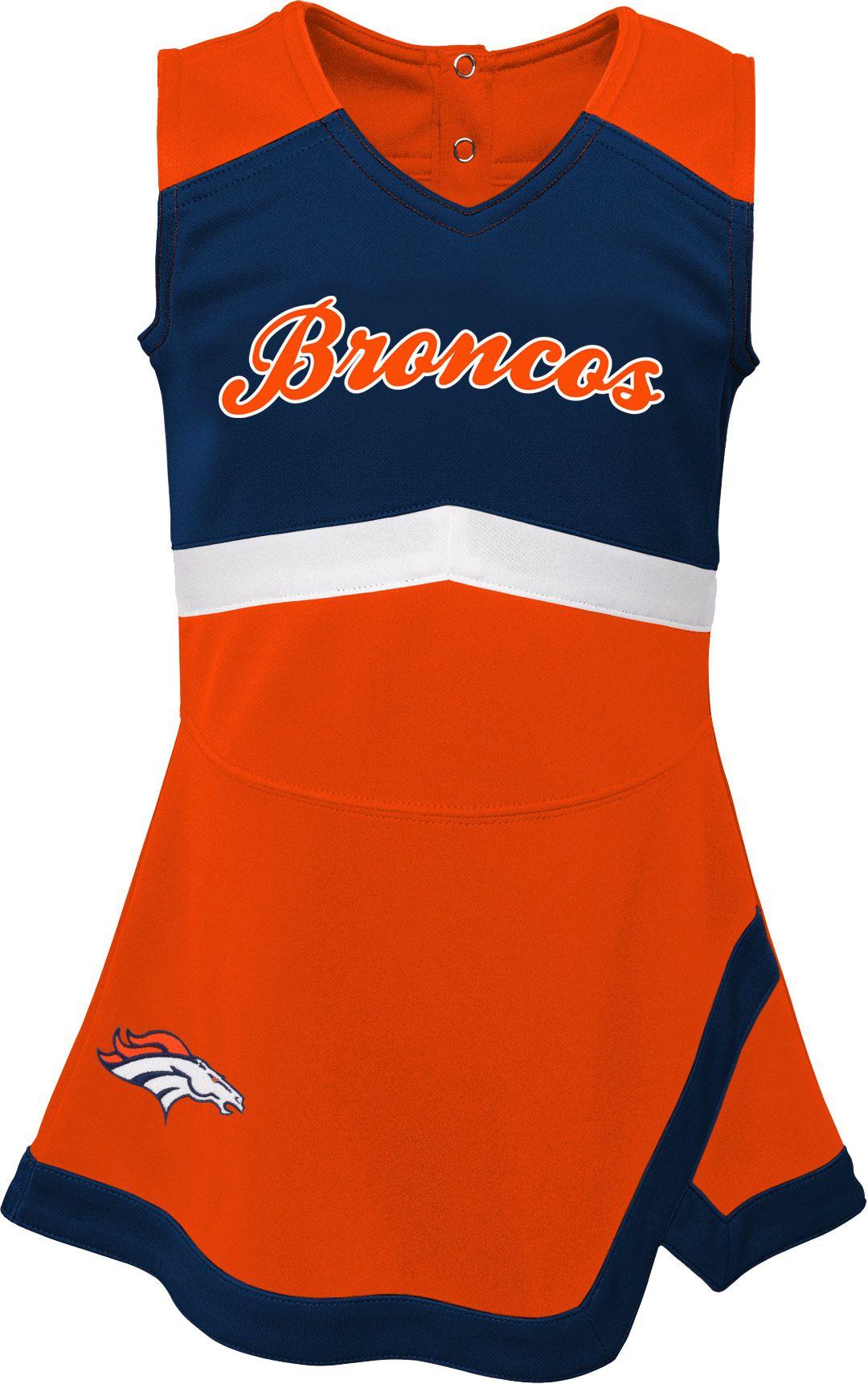best website 1eca8 72431 NFL Team Apparel Toddler Denver Broncos Cheer Jumper Dress