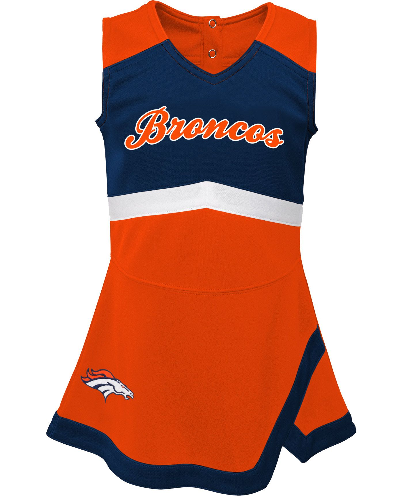 NFL Team Apparel Toddler Denver Broncos Cheer Jumper Dress