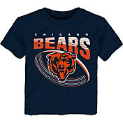 NFL Team Apparel Toddler Chicago Bears Vortex Navy T-Shirt