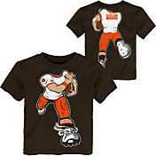 NFL Team Apparel Toddler Cleveland Browns Rush Brown T-Shirt