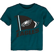 NFL Team Apparel Toddler Philadelphia Eagles Flag Teal T-Shirt