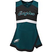 NFL Team Apparel Toddler Philadelphia Eagles Cheer Jumper Dress