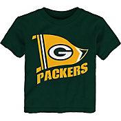 NFL Team Apparel Toddler Green Bay Packers Flag Green T-Shirt