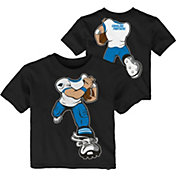 NFL Team Apparel Toddler Carolina Panthers Rush Black T-Shirt