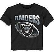 NFL Team Apparel Toddler Oakland Raiders Vortex Black T-Shirt