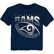 NFL Team Apparel Toddler Los Angeles Rams Vortex Navy T-Shirt