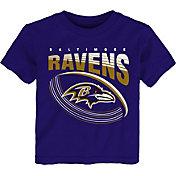 NFL Team Apparel Toddler Baltimore Ravens Vortex Purple T-Shirt