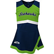 NFL Team Apparel Toddler Seattle Seahawks Cheer Jumper Dress