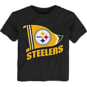 NFL Team Apparel Toddler Pittsburgh Steelers Flag Black T-Shirt