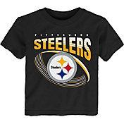 NFL Team Apparel Toddler Pittsburgh Steelers Vortex Black T-Shirt