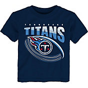 NFL Team Apparel Toddler Tennessee Titans Vortex Navy T-Shirt