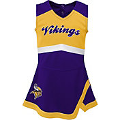 NFL Team Apparel Toddler Minnesota Vikings Cheer Jumper Dress