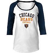 NFL Team Apparel Women's Chicago Bears Throwback Football Raglan Shirt