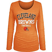 Product Image · NFL Team Apparel Women s Cleveland Browns Tri-Blend Football  Orange Long Sleeve Shirt b97031e0b