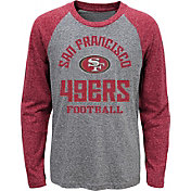NFL Team Apparel Youth San Francisco 49ers Gridiron Grey Long Sleeve Shirt