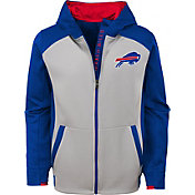 NFL Team Apparel Youth Buffalo Bills Hi-Tech Full-Zip Hoodie