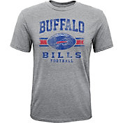NFL Team Apparel Youth Buffalo Bills Pride Tri-Blend Grey T-Shirt