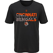 NFL Team Apparel Youth Cincinnati Bengals Flux Ultra Black T-Shirt