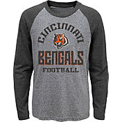 NFL Team Apparel Youth Cincinnati Bengals Gridiron Grey Long Sleeve Shirt