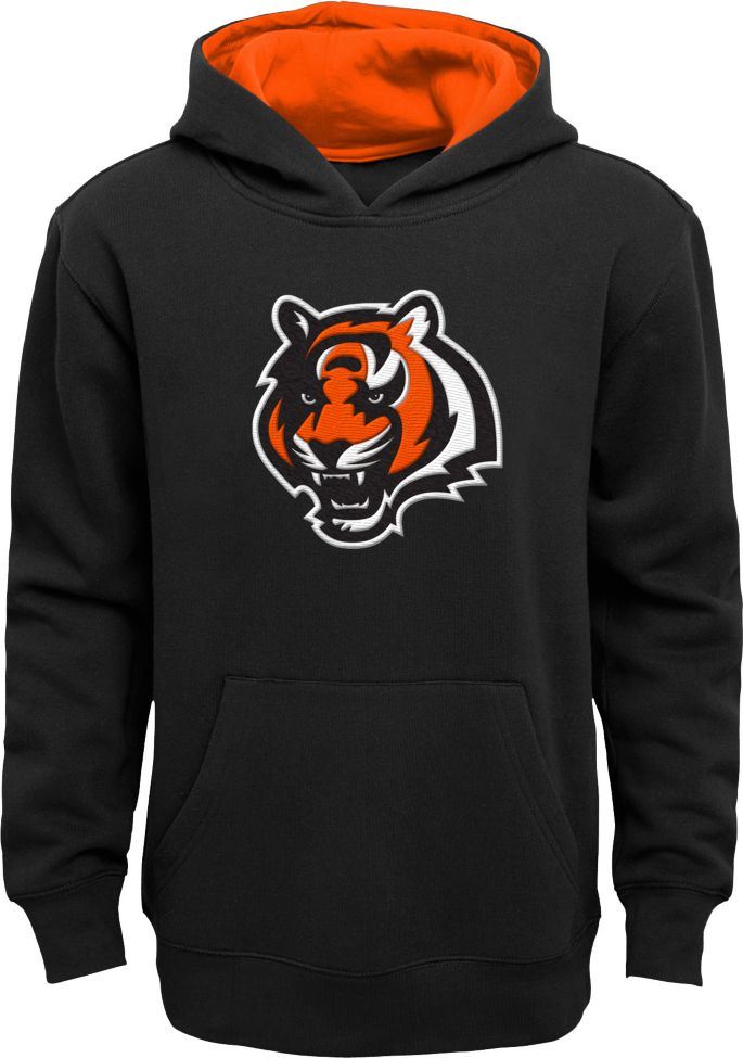 sneakers for cheap fbbe2 9aca2 NFL Team Apparel Youth Cincinnati Bengals Prime Black Pullover Hoodie