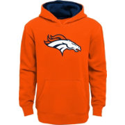 NFL Team Apparel Youth Denver Broncos Prime Orange Pullover Hoodie