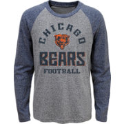 NFL Team Apparel Youth Chicago Bears Gridiron Grey Long Sleeve Shirt
