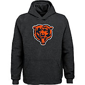 NFL Team Apparel Youth Chicago Bears Logo Grey Hoodie