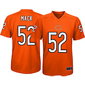 NFL Team Apparel Youth Chicago Bears Khalil Mack #52 Orange Performance T-Shirt