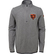 NFL Team Apparel Youth Chicago Bears Motion Grey Quarter-Zip Fleece Pullover