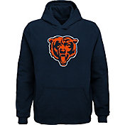 NFL Team Apparel Youth Chicago Bears Logo Navy Hoodie