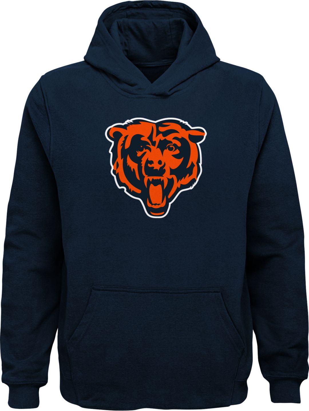 Top NFL Team Apparel Youth Chicago Bears Logo Navy Hoodie | DICK'S