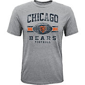 NFL Team Apparel Youth Chicago Bears Pride Tri-Blend Grey T-Shirt