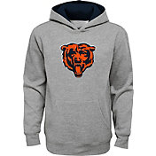 NFL Team Apparel Youth Chicago Bears Prime Grey Pullover Hoodie