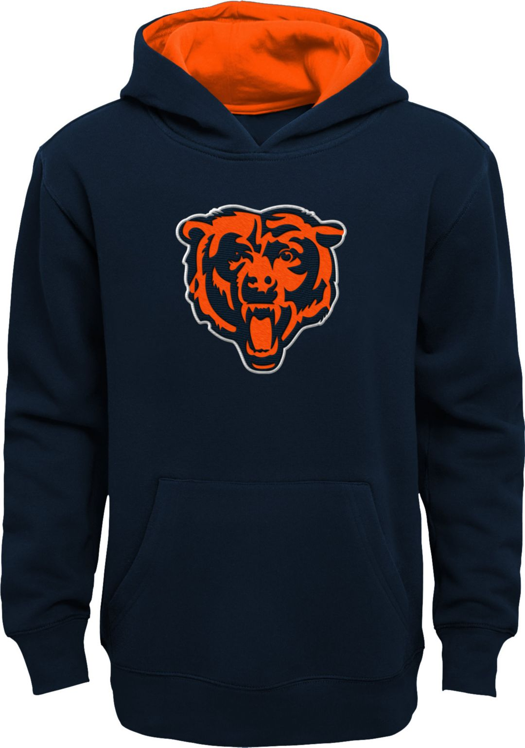 competitive price 1eaf4 ac29a NFL Team Apparel Youth Chicago Bears Prime Navy Pullover Hoodie