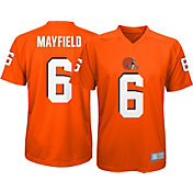 9d3e99ffcee Product Image · NFL Team Apparel Youth Cleveland Browns Baker Mayfield  6  Orange Performance T-Shirt