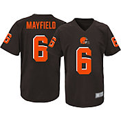 NFL Team Apparel Youth Cleveland Browns Baker Mayfield #6 Brown Performance T-Shirt