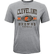 NFL Team Apparel Youth Cleveland Browns Pride Tri-Blend Grey T-Shirt