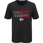 NFL Team Apparel Youth Kansas City Chiefs Flux Ultra Black T-Shirt