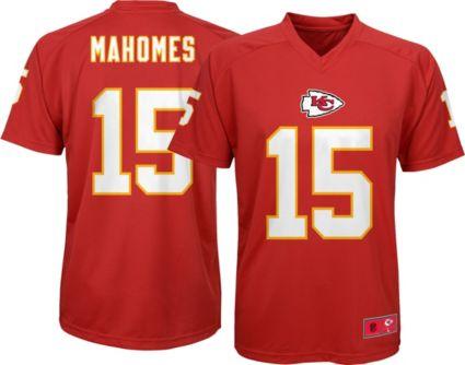 1fecc9faf3a1d NFL Team Apparel Youth Kansas City Chiefs Patrick Mahomes  15 Red ...